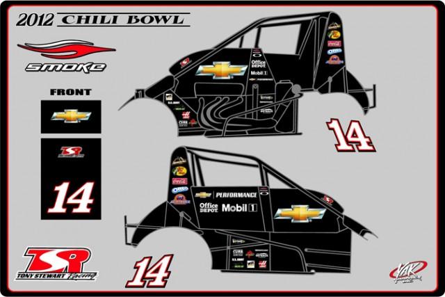 Logos for Tony Stewart's Chili Bowl etnry - Courtesy Tony Stewart Racing