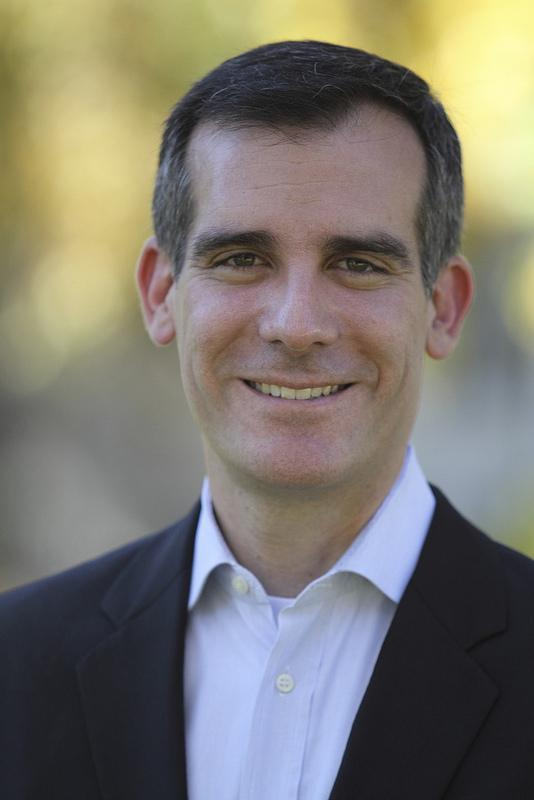 Los Angeles Mayor Eric Garcetti - a long-term electric-car fan