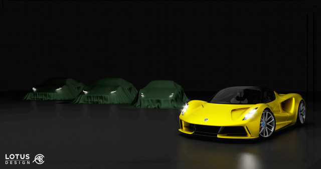 Lotus Evija with new series of sports cars