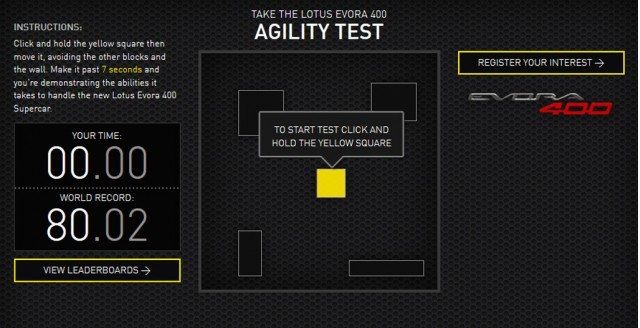 Lotus Evora 400 Agility Test