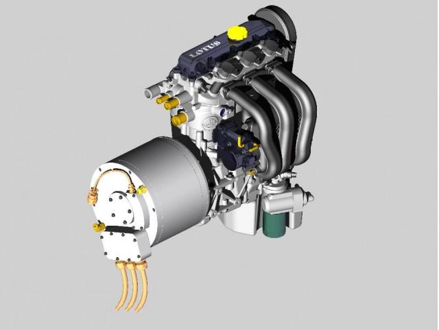 Lotus Range Extender 1 2 Liter Three Cylinder Engine And Generator