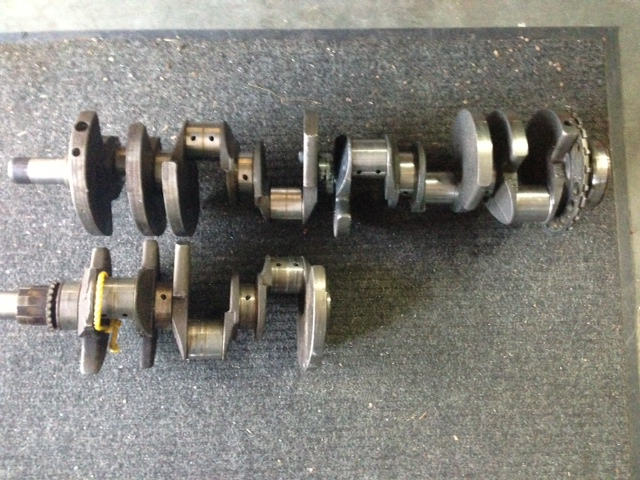 LS12 V-12 crankshaft. Image via V12Baker at LS1Tech.com.