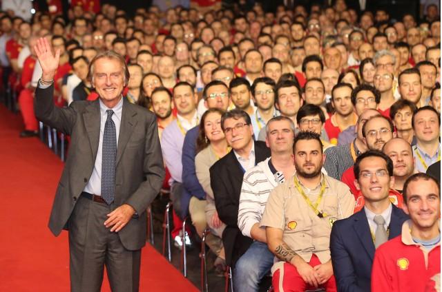 Luca di Montezemolo farewells Ferrari employees