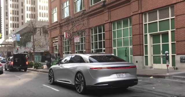 Lucid Air Luxury Electric Car Bloomberg Gets Brief Ride