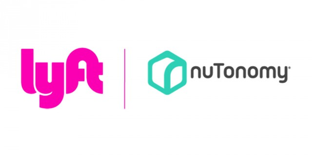 Lyft and nuTonomy logos