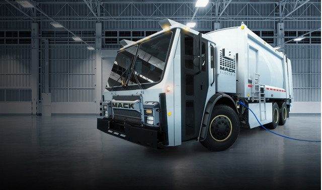Mack Electric LR garbage truck