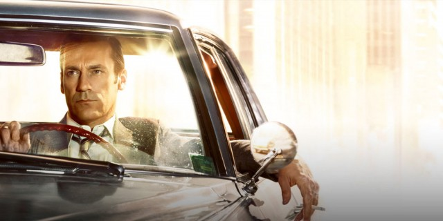 'Mad Men' character Don Draper (Jon Hamm) in a 1965 Cadillac Coupe DeVille