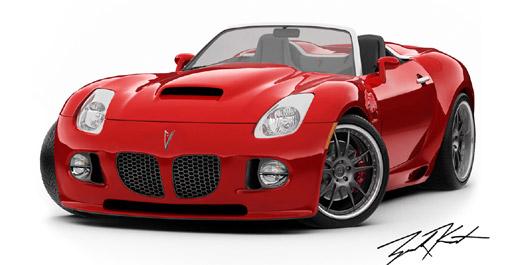Mallett's wide-body Pitbull Solstice with V8 power