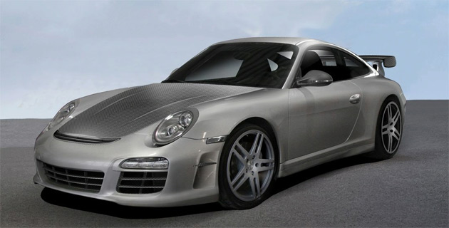 The latest Porsche kit was developed by Mansory's newly established Swiss-based Porsche tuning division
