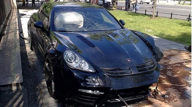 Mansory Porsche Panamera crash in Poland