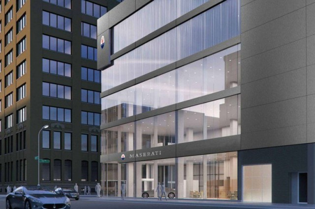 Maserati of Manhattan rendering courtesy CAI Architecture