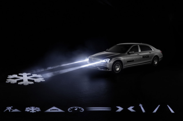 2019 Mercedes-Maybach S-Class digital headlights