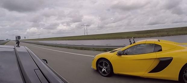 McLaren 650S vs. Tesla Model S P85D