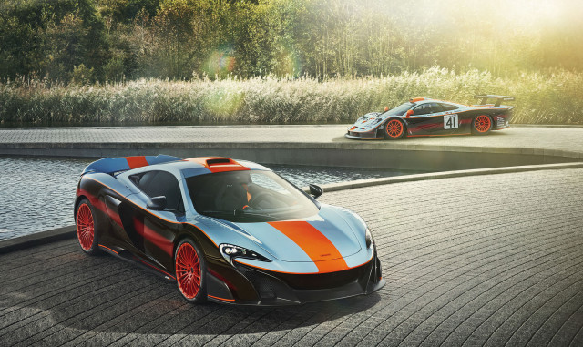 MSO creates a McLaren 675LT in tribute to Gulf-Davidoff F1 GTR Longtail