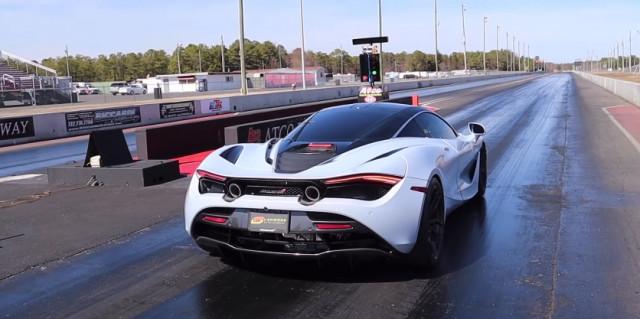 Modified McLaren 720S runs 8s at drag strip