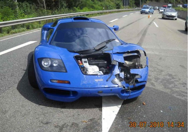McLaren F1 crash in Germany