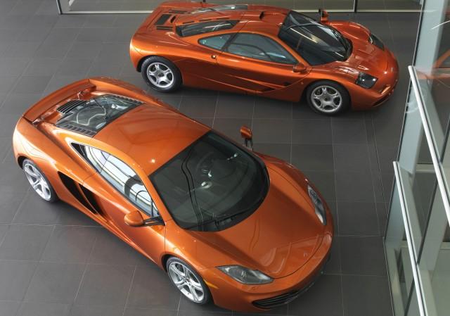 McLaren MP4-12C and F1 supercars