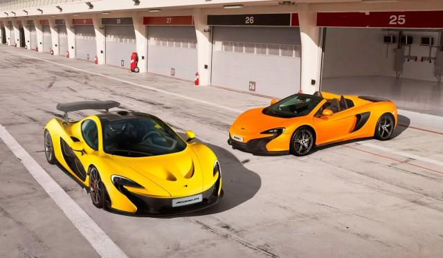 McLaren P1 and 650S Spider