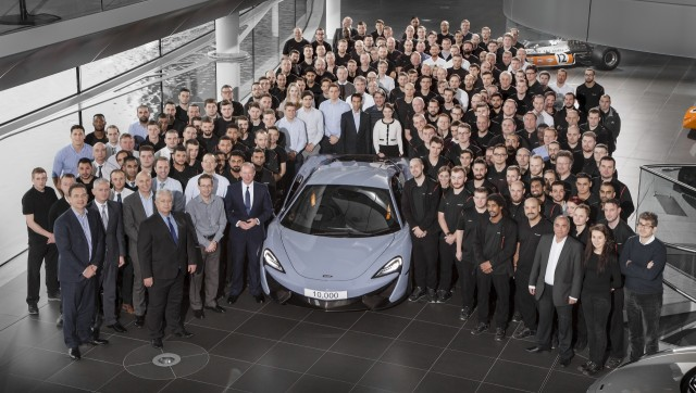 McLaren produced its 10,000th vehicle; this Ceramic Grey 570S