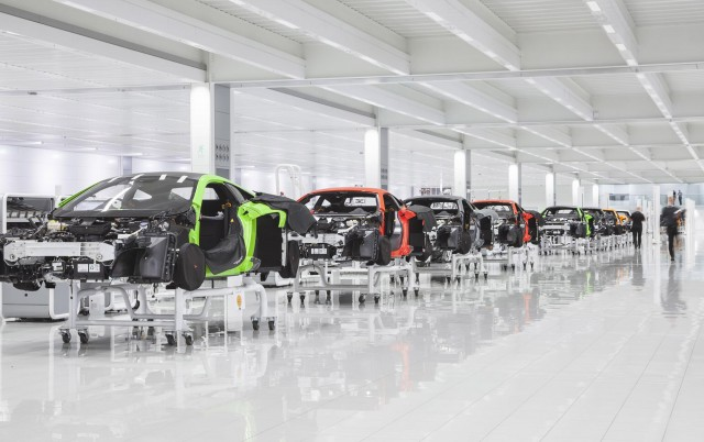 McLaren Production Center in Woking, England