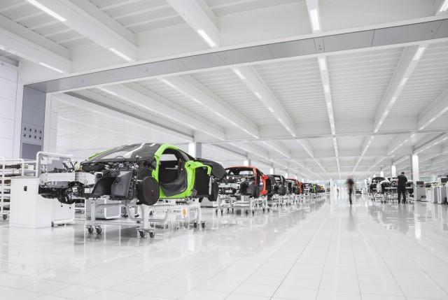 McLaren Production Center in Woking, England