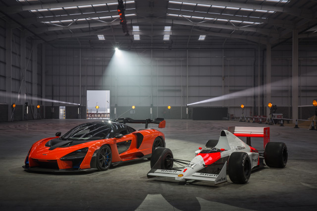 McLaren Senna and MP4/5