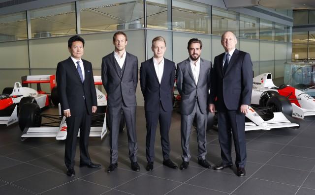 McLaren signs Jenson Button and Fernando Alonso for 2015 Formula One season