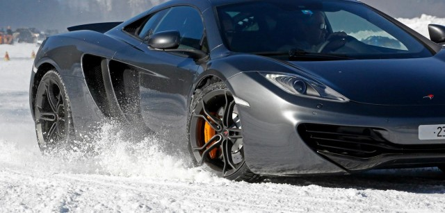 McLaren's ice driving school in Gstaad, Switzerland - image: McLaren