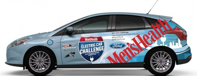 Men's Health 2012 Ford Focus Electric, to be driven from New York to Los Angeles, April 2012