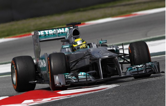Mercedes AMG at the 2013 Formula One Spanish Grand Prix