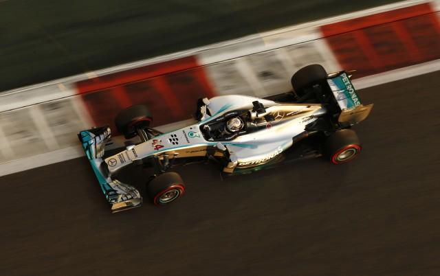Mercedes AMG at the 2014 Formula One Abu Dhabi Grand Prix