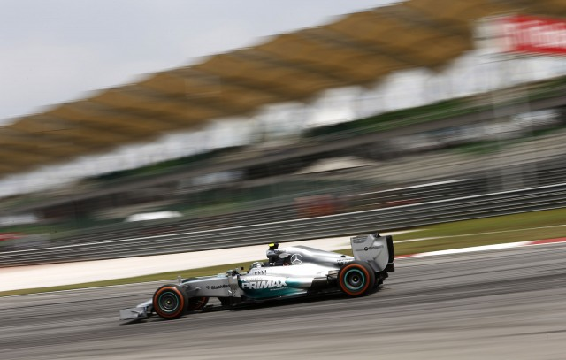 Mercedes AMG at the 2014 Formula One Malaysian Grand Prix