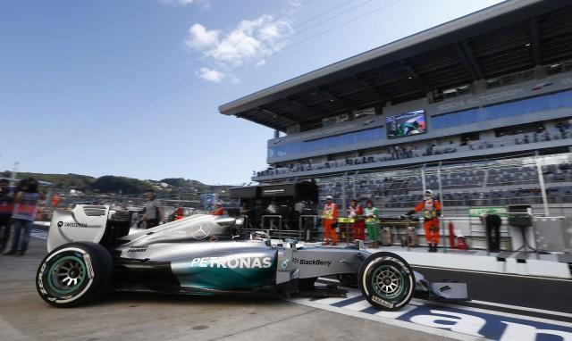 Mercedes AMG at the 2014 Formula One Russian Grand Prix