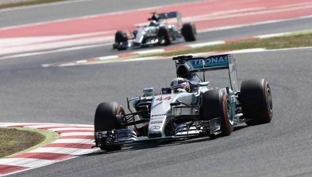 Mercedes AMG at the 2015 Formula One Spanish Grand Prix