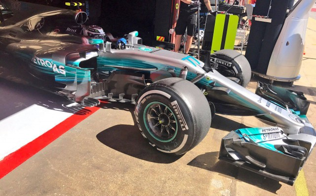 Mercedes AMG at the 2017 Formula One Spanish Grand Prix