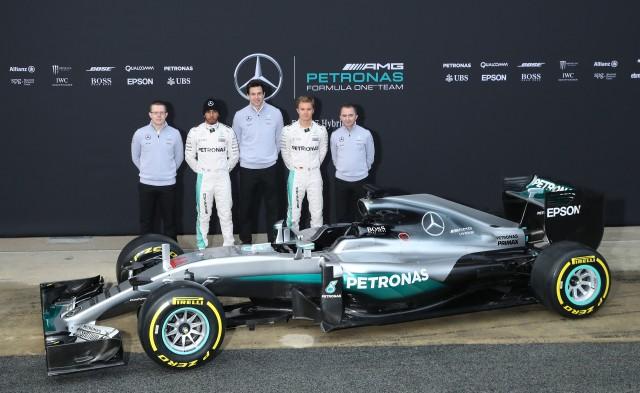 Mercedes AMG W07 Hybrid 2016 Formula One car