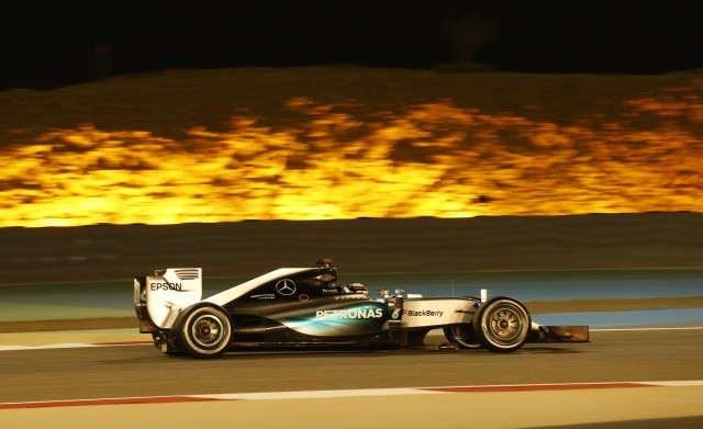 Hamilton edges out vettel for formula one bahrain grand for Mercedes benz bahrain