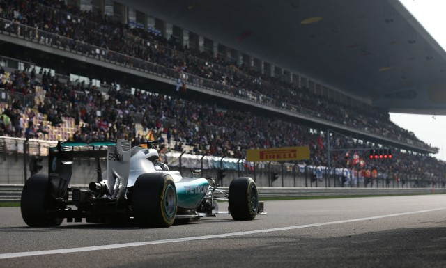 Mercedes AMG's Lewis Hamilton at the 2015 Formula One Chinese Grand Prix