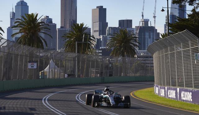 Mercedes-AMG's Lewis Hamilton at the 2018 Formula 1 Australian Grand Prix