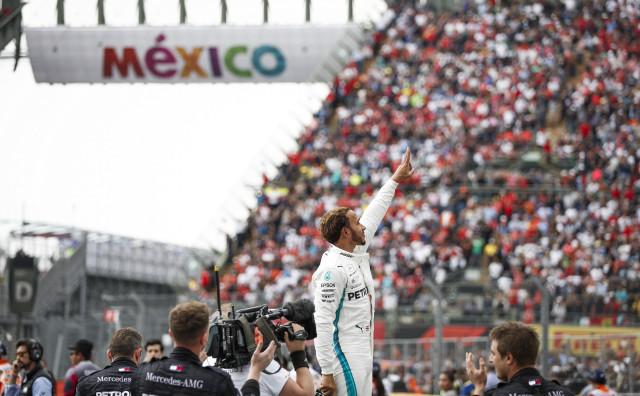 Mercedes-AMG's Lewis Hamilton at the 2018 Formula 1 Mexican Grand Prix