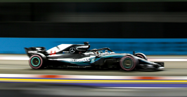 Mercedes-AMG's Lewis Hamilton at the 2018 Formula 1 Singapore Grand Prix