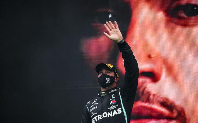 Mercedes-AMG's Lewis Hamilton at the 2020 Formula One Portuguese Grand Prix