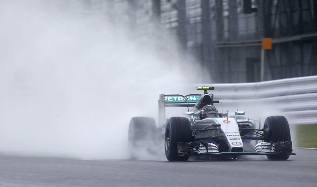 Mercedes AMG's Nico Rosberg at the 2015 Formula One Japanese Grand Prix