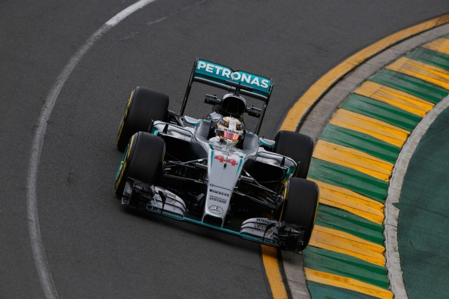 Mercedes AMG's Nico Rosberg at the 2016 Formula One Australian Grand Prix