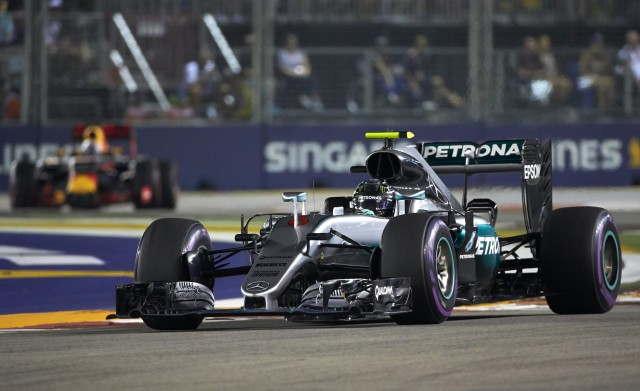 Mercedes AMG's Nico Rosberg at the 2016 Formula One Singapore Grand Prix