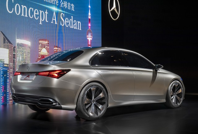 2019 mercedes benz a class sedan spy shots. Black Bedroom Furniture Sets. Home Design Ideas