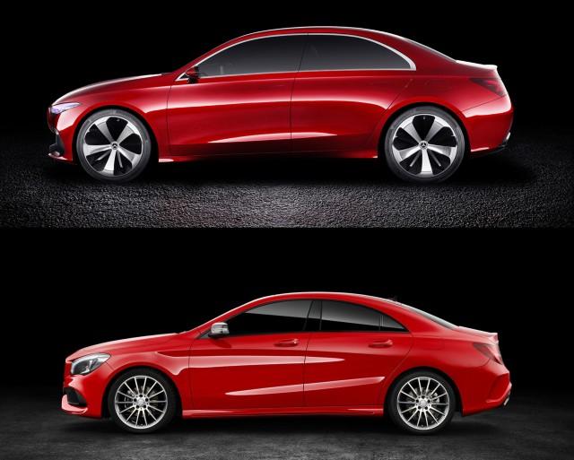 Mercedes-Benz A Sedan concept versus CLA