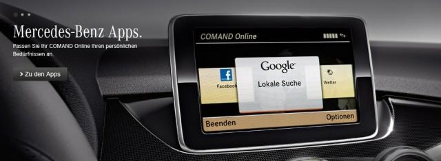 Mercedes-Benz app store for European customers