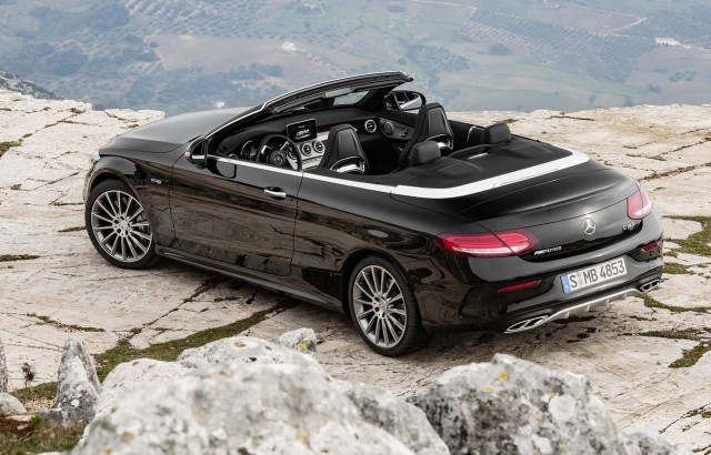 2017 mercedes benz c class cabriolet drops its top in geneva live photos and video. Black Bedroom Furniture Sets. Home Design Ideas
