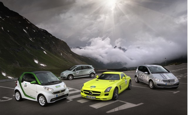 Mercedes-Benz entrants into the 2012 Silvretta E-Car Rally